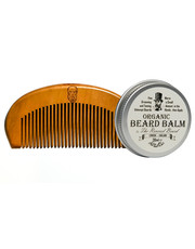 kosmetyk do brody Half Ounce London - Zestaw do pielęgnacji brody Balsam+ Grzebień
