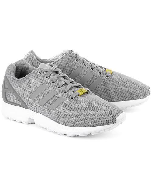 best value high fashion hot product sneakersy męskie Adidas Zx Flux - Szare Nylonowe Sportowe Męskie - M19838