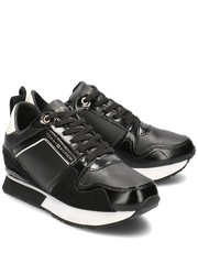 Sneakersy Leather Wedge Sneaker - Sneakersy Damskie - FW0FW04420 990 - Mivo.pl Tommy Hilfiger