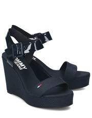 61705b039c01f Sandały Jeans Mix Wedge - Sandały Damskie - EN0EN00560 403 - Mivo.pl Tommy  Hilfiger