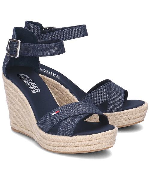 55b7df4efa54c Tommy Hilfiger Luna 1D1 - Sandały Damskie - FW0FW00442 403, sandały ...