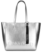 Shopper bag Edged Shopper Met - Torebka Damska - K60K605205 068 - Mivo.pl Calvin Klein