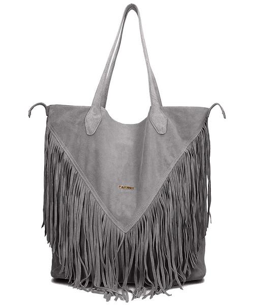 40f4d704088a5 Shopper bag Carinii Frędzle - Torebka Damska
