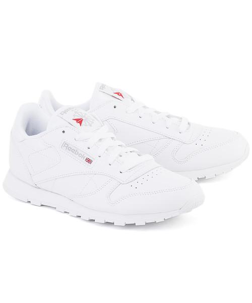 079b1779 Sneakersy Reebok Classic Leather - Białe Skórzane Sportowe Damskie - 2232