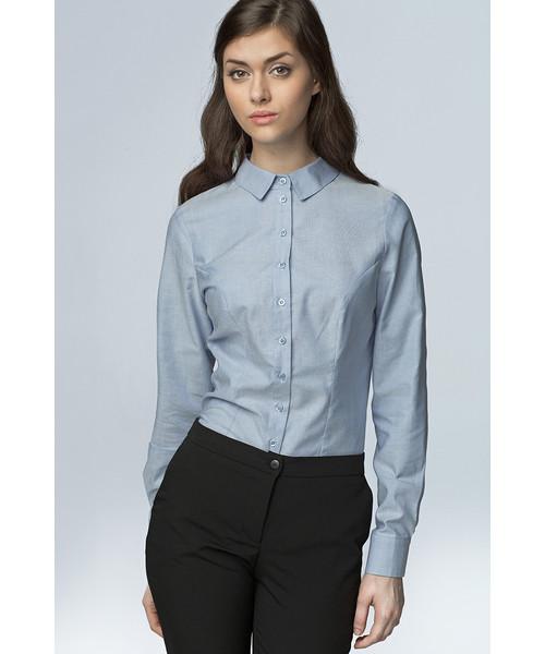 Nife Klasyczna taliowana koszula błękit, koszula Butyk.pl  qSFa6