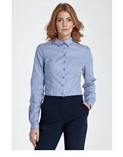 Koszula Koszula z asymetrycznym kołnierzykiem - niebieski - Nife.pl Nife