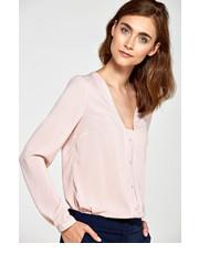 bluzka Nife - Bluzka b80 - róż/kropki
