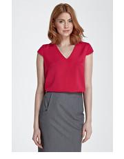 Bluzka Bluzka z modnym dekoltem w kształcie litery V - fuksja - Nife.pl Nife