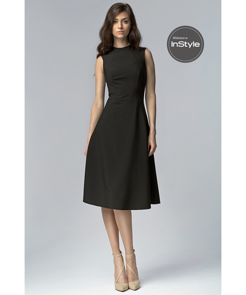 f77643a824 Sukienka Nife Elegancka sukienki MIDI - czarny