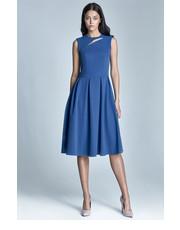 Sukienka Sukienka midi Ann - niebieski - Nife.pl Nife