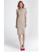 Sukienka Sukienka z zamkiem na plecach - beż - Nife.pl Nife