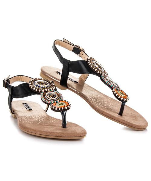 Vices Ozdobne japonki ze sprzączką NICKI czarne, sandały