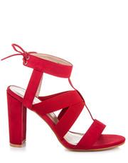 Sandały Czerwone sandałki na słupku NANON - Merg.pl Super Mode