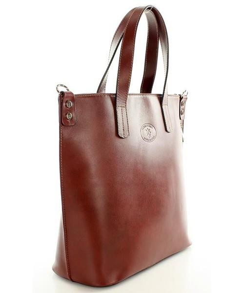 16d168a1a5448 Shopper bag Mazzini Skórzana brązowa Torebka Shopperka SARITA