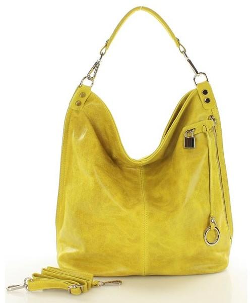 31985e2e68a52 Mazzini Skóra naturalna torebka worek Isabella żółta, torebka - Butyk.pl