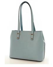 Torebka skórzana torba na ramię BONITA jasno niebieska - Merg.pl Mazzini