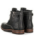 Półbuty męskie Roadsign Australia Męskie Czarne buty za kostkę SKÓRA Naturalna