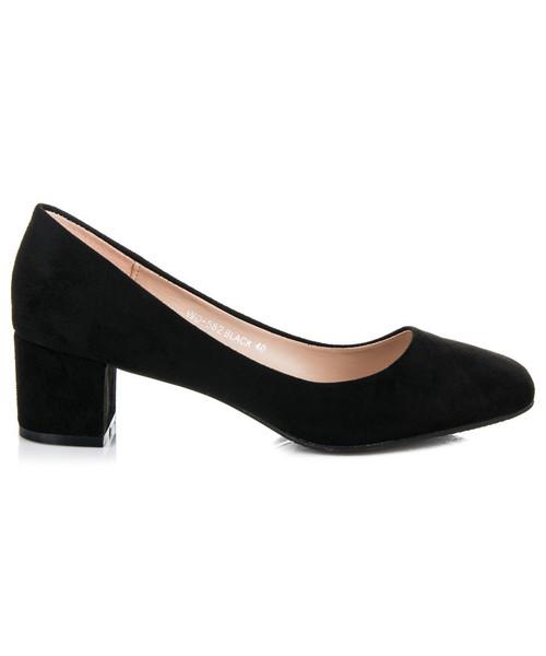 26e1bab3c70b0 Weide Zamszowe buty na płaskim obcasie ELAINE, czółenka - Butyk.pl