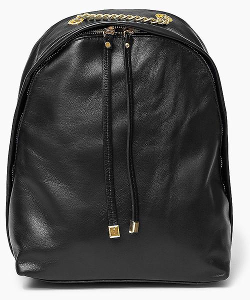 0d810f61c93ca Plecak Vera Pelle 100 % Włoska skóra - torebka plecak Czarna