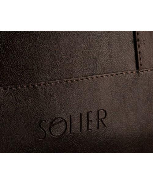 dc44e4f5b0b36 Torba męska Solier Męska elegancka torba na ramię NORMAN brąz