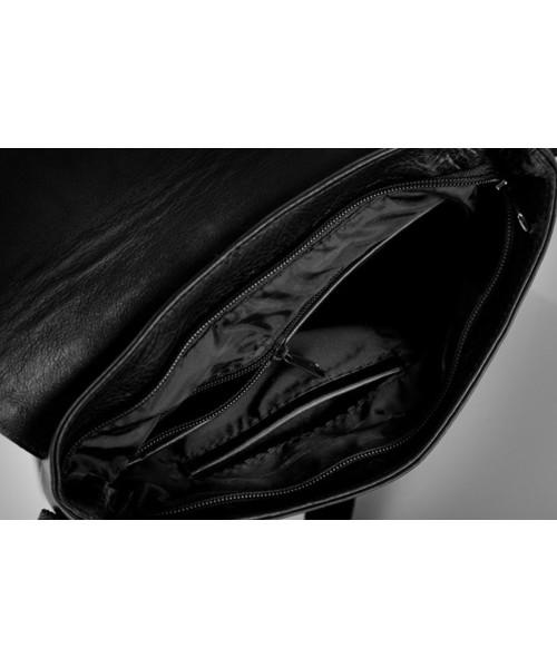8dfeacd64bdee Torba męska Solier Skórzana torba na ramię   tablet VALENTIN czarna