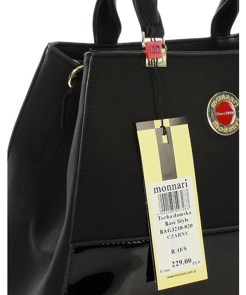torebka skórzana MONNARI Elegancka torebka mini kuferek czarny