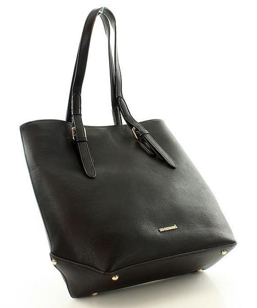 c721fea88156a Shopper bag MONNARI Funkcjonalna torebka na ramię shopper bag czarna