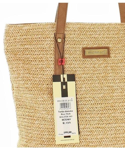 torebka MONNARI Lekka słomkowa torba koszyk na lato beżowy
