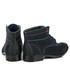Półbuty męskie Tutto Per Tutto Granatowe męskie buty za kostkę