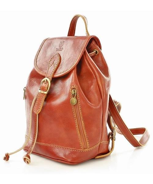 cd0a239f56d2d Plecak Merg Włoski plecak skórzany VALENTINO camel