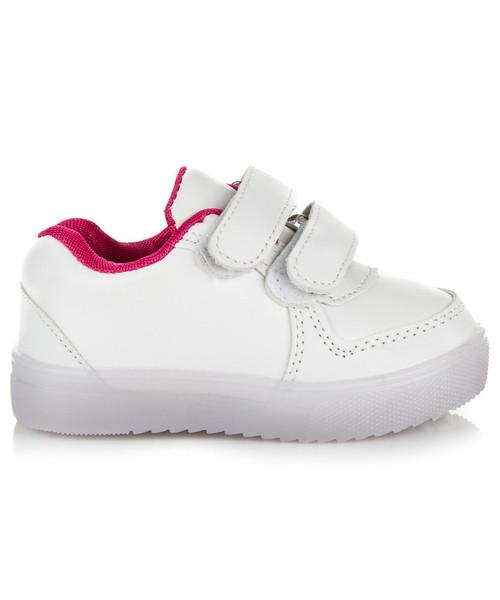 sportowe buty dziecięce Merg Białe Adidaski Led MIKAYLA