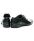 Półbuty męskie LUCCA Czarne polskie skórzane eleganckie buty