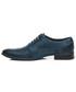 Półbuty męskie LUCCA Granat - polskie skórzane eleganckie buty