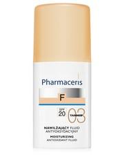 Podkład FLUID ANTYOKSYDACYJNY z sylimaryną SPF20 03 TANNED (opalony) NAWILŻAJĄCY - pharmaceris.com Pharmaceris