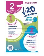 Twarz Maseczka oczyszczająco-nawilżająca 2 kroki w walce z trądzikiem - undertwenty.pl Under Twenty