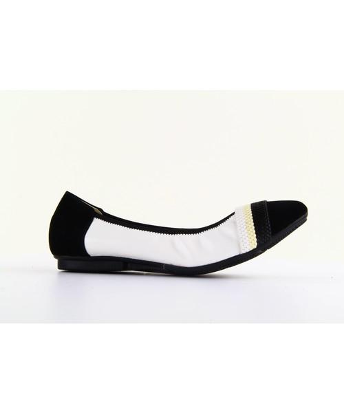 37629d8bb2bf1 Bayla 1333-16 White-Black Colors, balerinki - Butyk.pl