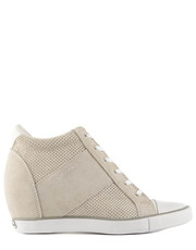 sneakersy Voss Perf Suede Smooth White - Bayla.pl