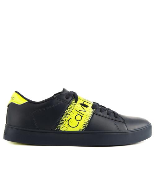 acc2d166df sneakersy męskie Calvin Klein Jeans Luis Matte Smooth Print Navy Yellow
