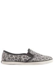 trampki slip on Calvin Klein Jeans - Raz Ck Logo Jacquard Nappa Pale/Pewter