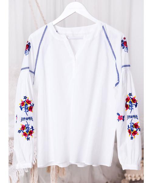 SELFIEROOM Koszula BOHO FOLK biała, koszula Butyk.pl  4XVrx