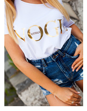 Bluzka T-Shirt VOGUE LOOK WHITE - Selfieroom.pl SELFIEROOM