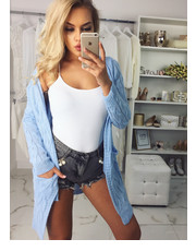 Sweter Kardigan BONNIE - baby blue - Selfieroom.pl SELFIEROOM