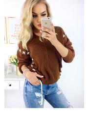 sweter SELFIEROOM - Sweterek Crosana - Camel