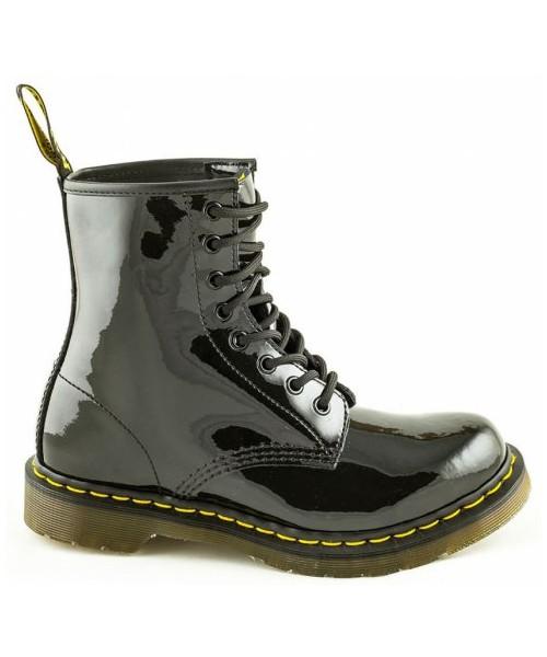 nowy wygląd niższa cena z specjalne do butów workery Dr. Martens Buty 1460 W Black Patent Lamper