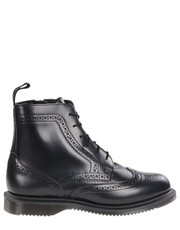 Botki Botki  DELPHINE Black Polished Smooth - Martensy.pl Dr. Martens