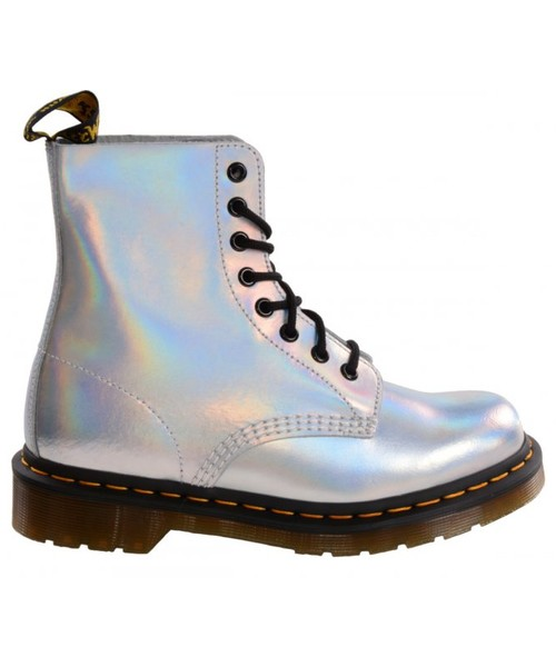 583cad0f8f890 botki Dr. Martens Buty PASCAL IM Silver Lazer Reflective Metallic Leather  23551073