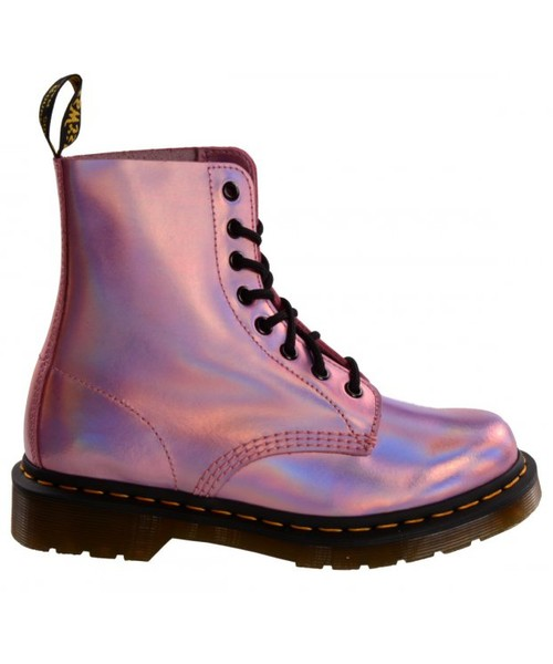 7dd8025b2d31f botki Dr. Martens Buty PASCAL IM Mallow Pink Reflective Metallic Leather  23551690