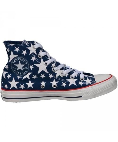 trampki damskie Converse Trampki CHUCK TAYLOR ALL STAR HI NavyWhite Stars 147118C