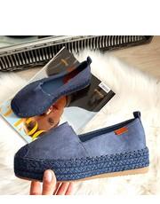 8843c8363469f Niebieskie buty damskie zamszowe kolekcja jesień 2017 - Butyk.pl