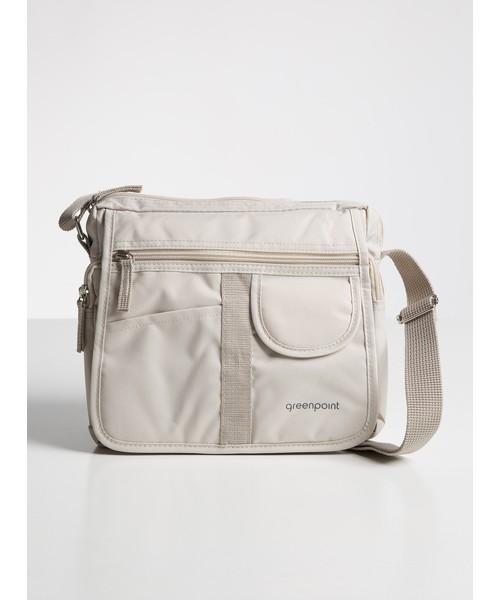 Mała torebka na ramię greenpoint bezowy paski
